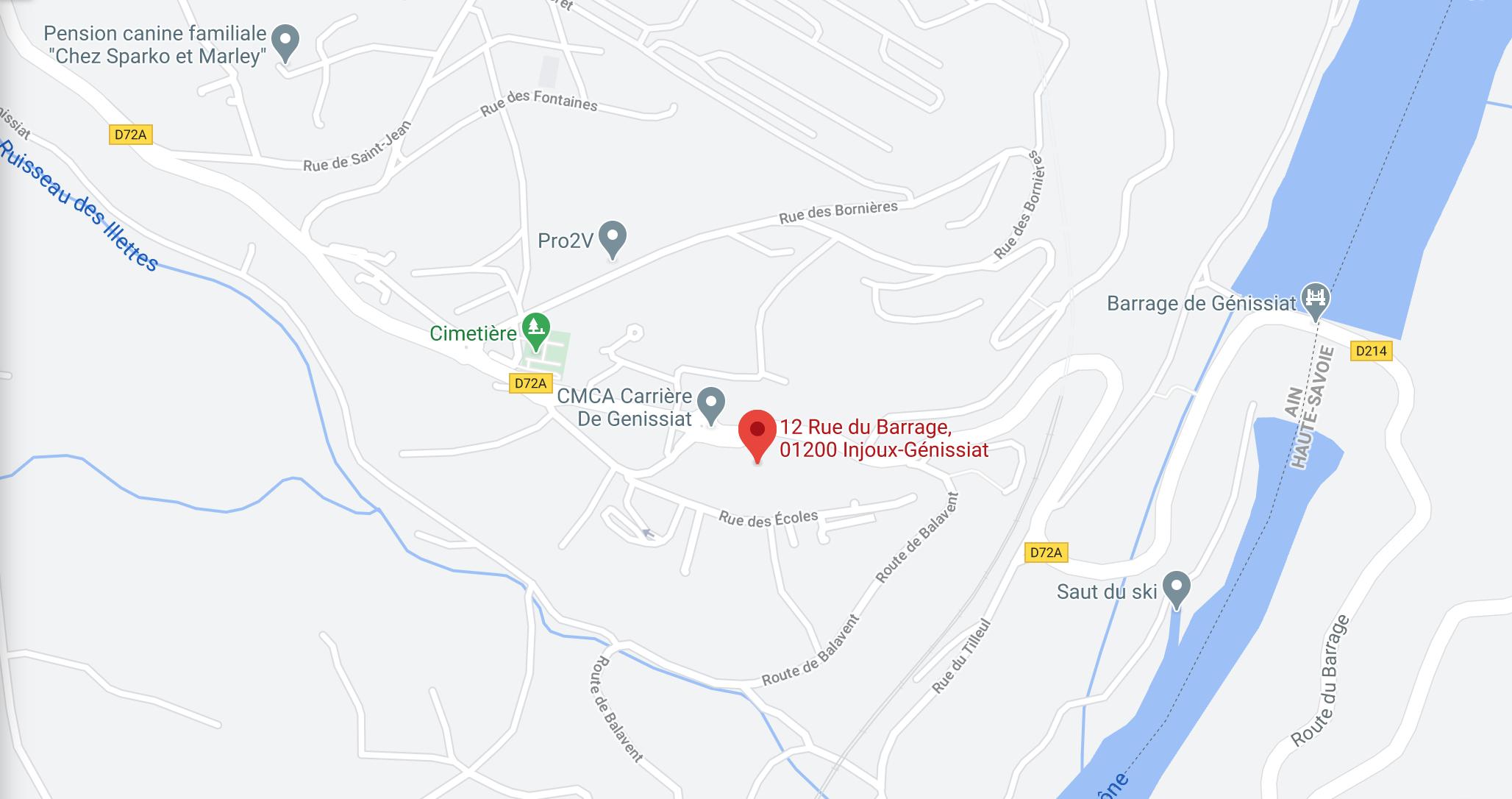 Position du Restaurant sur Google Maps